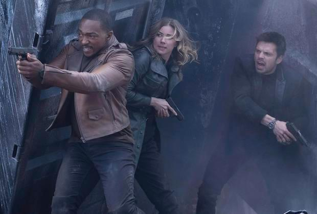 Sharon Carter fights with Sam and Bucky